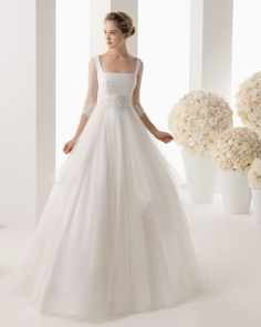 Tulle A Line Wedding Dress -- USD $176.99