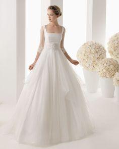 Tulle A Line Wedding Dress -- USD $176.99
