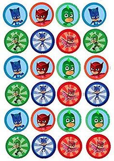 Being A Hero Essays Heroes En Pijama - Opinion of professionals Pj Masks Cupcake Toppers, Pj Mask Cupcakes, 4th Birthday Parties, 3rd Birthday, Pjmask Party, Ben E Holly, Festa Pj Masks, Niklas, Bottle Cap Images