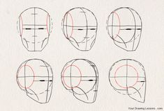 drawing Illustration art reference drawing tutorial how to draw art instruction character design reference anatomy for artists lommis method Drawing The Human Head, Drawing Heads, Human Figure Drawing, Figure Drawing Reference, Art Reference Poses, Drawing Faces, Drawings, Drawing Portraits, Drawing Drawing