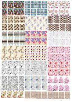De Tudo um Pouco - Unhas: Cartelas GRATIS para imprimir - Películas para unhas