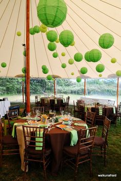 Add extra flair to a funfair themed wedding or event with our bright green hanging lanterns - the uneven ribbing of these lanterns will set your decor apart from any other party decor!