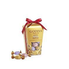 Godiva Chocolatier Wrapped Assorted Truffles Gift Box, 30 pieces