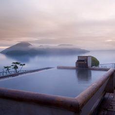 両親と一緒に温泉旅行。美味し物を食べてのんびりしたい。 Shikotsu-ko in Hokkaido