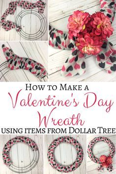 Inexpensive & Easy Valentine's Day Wreath Using Dollar Tree Items http://hearthookhome.com/inexpensive-easy-valentines-day-wreath-using-dollar-tree-items/?utm_campaign=coschedule&utm_source=pinterest&utm_medium=Ashlea%20K%20-%20Heart%2C%20Hook%2C%20Home&utm_content=Inexpensive%20and%20Easy%20Valentine%27s%20Day%20Wreath%20Using%20Dollar%20Tree%20Items