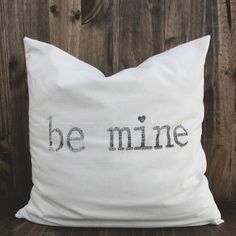 Be Mine 16 x 16 Pillow Cover valentines day by ParrisChicBoutique, $20.00