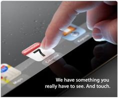 iPad3 event on March 7th.  Did you get your invite?