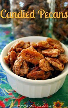 How to make candied pecans  http://chiadesigns.com/