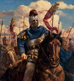 Flavius Aetius on the march. This military strong man was arguably the last representative of the imperial court to preside over a recognisably intact Western Roman Empire. Roman History, Art History, Stonehenge, Military Art, Military History, Ancient Rome, Ancient History, Roman Britain, Germanic Tribes