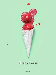 'Piece of Cake'  Typography Project by Luda Galchenko