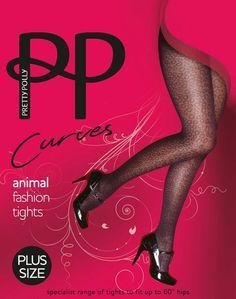 9930cbeea Strumpfhose mit Wildtier-Musterung für Frauen mit weiblichen Rundungen  Curves Animal Fashion von Pretty Polly