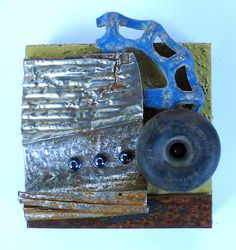Lid VI found object assemblage by tristanfrancis on Etsy