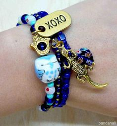 Cool beaded bracelet #beadsbracelet #handmadebracelet #pandahall  PandaHall Promotion: use coupon code MayPINEN10OFF for 10% off for your orders, valid time from May 18 to May 31.