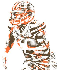 Nick Chubb CLEVELAND BROWNS PIXEL ART 2 Art Print by Joe Hamilton. All prints are professionally printed, packaged, and shipped within 3 - 4 business days. Cleveland Browns Wallpaper, Joe Hamilton, Cleveland Browns Football, Brown Wallpaper, Thing 1, Football Art, Pixel Art, Cowboys Eagles