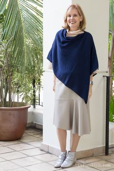 How to wear a poncho or cape this season