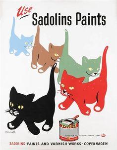 Galería: 35 Publicidades vintage donde los gatos vendían mejor el producto | NotiNerd