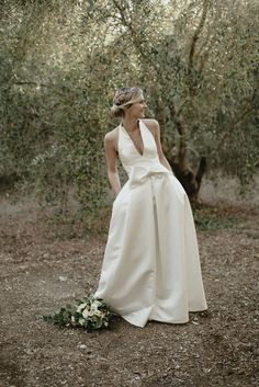 Bride In Halterneck Jesus Peiro Dress - Bride In Halterneck Jesus Peiro Dress Pastel Colour Palette Wedding In The South Of France With Images by Sebastien Boudot