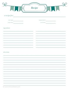 a4 recipe card template fun recipe template 8 x 11 printable