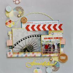 #papercraft #scrapbook #layout. January Week 2 Sketch Challenge