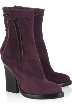Haider Ackermann | Lace-up suede ankle boots | NET-A-PORTER.COM