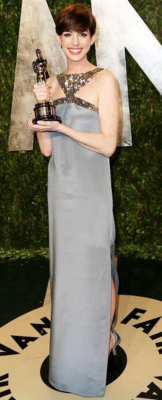 Anne Hathaway at 2013 Vanity Fair Oscar Party