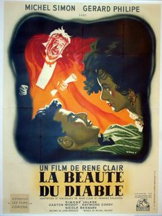 Movie Poster of the Day: Photo Gerard Philipe, Michel, Film Posters, Day, Films, France, Novels, Journals, Cover Pages