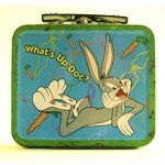 Vintage Bugs Bunny Lunch Box- Vintage Bugs Bunny Lunch Box Vintage Bugs Bunny L. Retro Lunch Boxes, Lunch Box Thermos, Tin Lunch Boxes, Metal Lunch Box, Tin Boxes, Star Wars Lunch Box, Lunchbox Design, School Lunch Box, School Days
