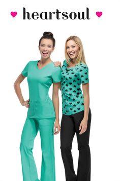 Heartsoul scrubs are so cute and soft! www.atozscrubs.com