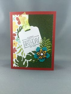 Botanical Blooms Card - 2016 Stampin' Up! Occasions Catalogue. Michelle Klieber