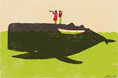 Whale spotting   Tatsuro Kiuchi Illustration