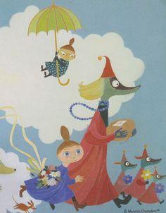 Painting on the wall of Aurora children's hospital/ Pala Auroran lastensairaalan seinää Book Cover Art, Book Art, Little My Moomin, Moomin Mugs, Moomin Valley, Tove Jansson, Beautiful Drawings, Children's Book Illustration, Fairy Tales