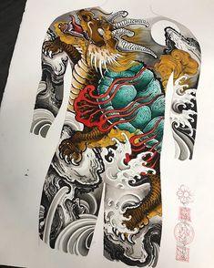 Japanese Tattoo Art, Japanese Tattoo Designs, Japanese Sleeve Tattoos, Tattoo Goo, Fantasy Beasts, Asian Tattoos, Japan Tattoo, Samurai Tattoo, Japanese Dragon