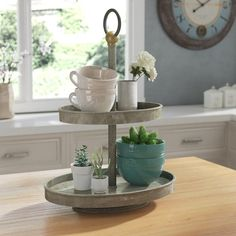 Are you searching for pictures for farmhouse living room? Check out the post right here for amazing farmhouse living room inspiration. This kind of farmhouse living room ideas appears to be absolutely amazing. Pedestal Cake Stand, Tiered Stand, Wood Tray, Tray Decor, Cake Stand Decor, Cake Stands, Tv Stands, Wall Decor, Style Vintage