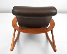 Vladimir Kagan Two Position Contour Rocking Chair and Foot Stool For Sale at 1stdibs