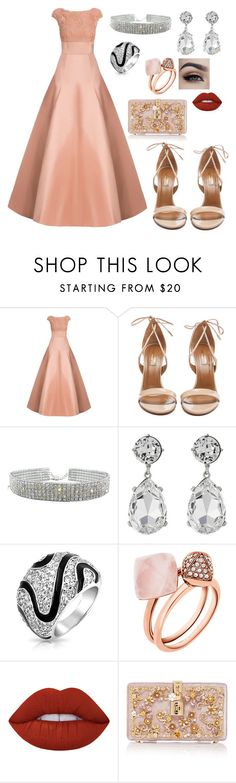 """Untitled #111"" by miss-shopaholic18 ❤ liked on Polyvore featuring Jason Wu, Aquazzura, Kenneth Jay Lane, Bling Jewelry, Michael Kors, Lime Crime and Dolce&Gabbana"