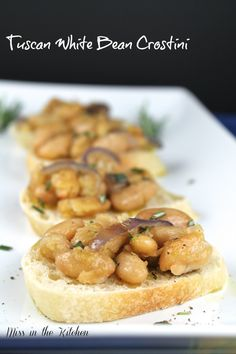 Tuscan White Bean Crostini from Miss in the Kitchen