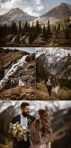 This adventurous couple was all giggles and romance as they hiked up Yankee Boy Basin to find the perfect private location in the San Juan Mountains for their elopement ceremony. They decided to say their vows in a self solemnization ceremony with only their traveling wedding photographer Maddie Mae with them to snap each magical elopement moment.