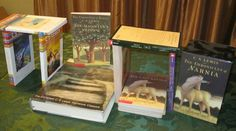 A tiny Stonehenge made of C.S. Lewis's books (in honor of his birthday)