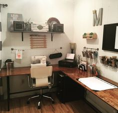 Wood & Pipe desk tutorial DIY home office space How to make your own wood & pipe desk Transform your craft/work space