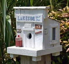 Rustic Birdhouse - Bait Shop Birdhouse - Coca Cola Birdhouse - License Plate Birdhouse