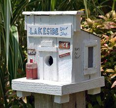 Rustic Birdhouse - Bait Shop Birdhouse - Coca Cola Birdhouse - License Plate Birdhouse