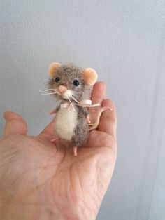 Image 1 Felt Mouse Needle Felted Animals Needle Felting Projects
