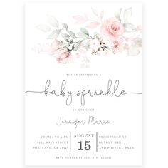 Floral Baby Sprinkle Invitation | Forever Your Prints