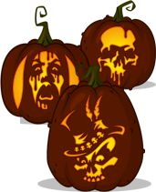 Pumpkin Carving Patterns from Zombie Pumpkins