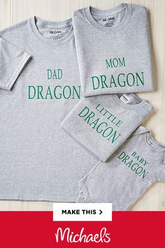 Looking for a great last minute Halloween idea? Dressing up as a family of dragons can be so fun and this easy DIY can be worn at any age.