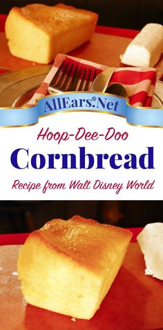 Famous cornbread recipe from Disney's Hoo-Dee-Doo Dinner Show at Walt Disney Wor… Berühmtes Maisbrot-Rezept von Disneys Hoo-Dee-Doo Dinner Show in Walt Disney World Healthy Recipes, Great Recipes, Cooking Recipes, Favorite Recipes, Cornbread Recipes, Sweet Cornbread, Cornbread Mix, Cornbread Dressing, Desserts