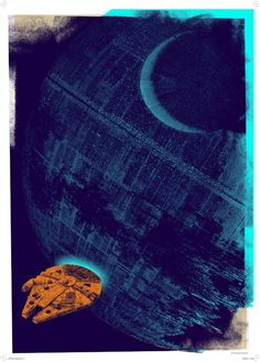 Death Star Gateway - Star Wars   £55 Framed (40cm x 50cm)  £80 Framed (50cm x 70cm)