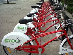 Una de las 90 Cicloestaciones de ECOBICI, Sistema de Bicicletas Públicas del D.F. CIUDAD DE MEXICO