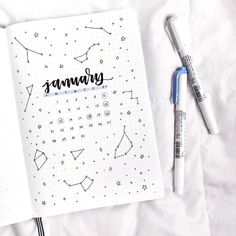 Good morning I love this astrology themed post from @letteringwithleni what's everyone's star sign? I'm Scorpio #notebooktherapy
