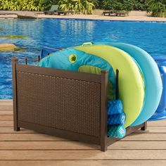 Shop for Mammoth Pool Accessory Storage. Get free delivery On EVERYTHING* Overstock - Your Online Water Sports & Pools Store! Swimming Pool Stores, Swimming Pools, Patio Storage, Outdoor Storage, Metal Deck, Tropical Pool, Cool Deck, Deck Box, Pool Accessories